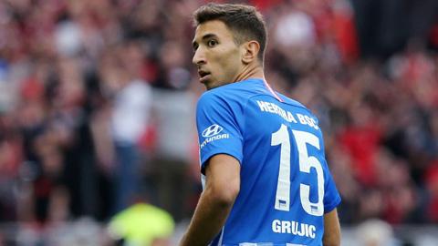 Marko Grujic trong màu áo Hertha Berlin
